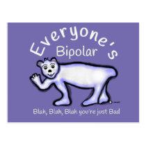 Mental Health Bipolar Postcard