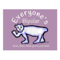 Mental Health Bipolar Postcard