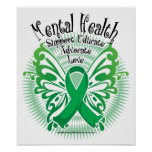 Mental Health Butterfly 3 Poster