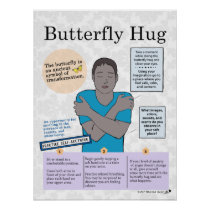 Mental Health Butterfly Hug Poster for Adults