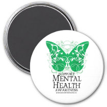Mental Health Butterfly Magnet