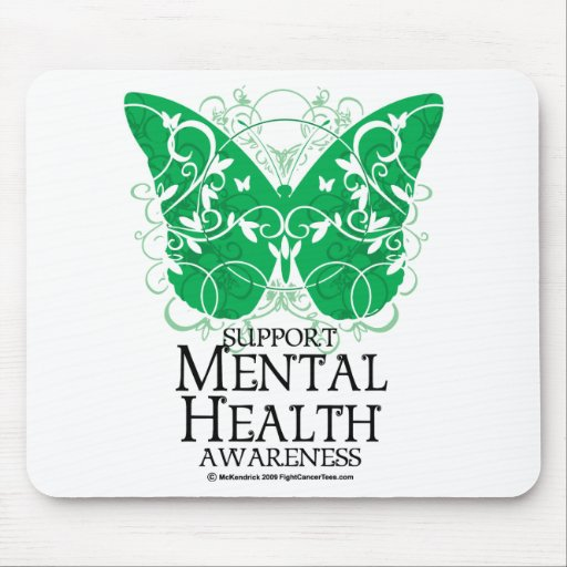 Mental Health Butterfly Mouse Pad