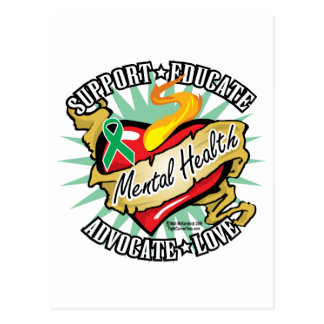 Mental Health Classic Heart Postcard