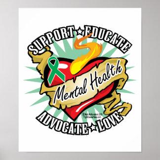 Mental Health Classic Heart Print
