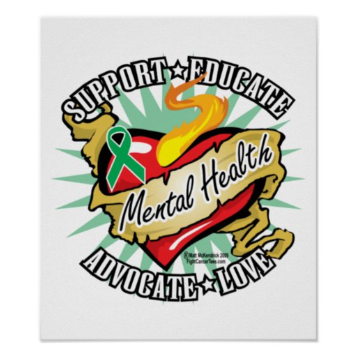 Mental Health Classic Heart Poster