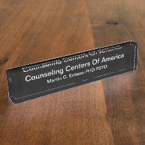Mental Health Counseling Center Desk Name Plate