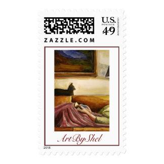 Mental Health day cropped, ArtByShel Postage Stamp