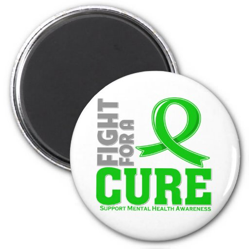Mental Health Disease Fight For A Cure 2 Inch Round Magnet