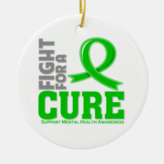 Mental Health Disease Fight For A Cure Christmas Ornament
