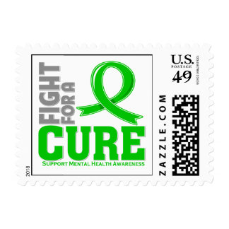 Mental Health Disease Fight For A Cure Postage Stamp