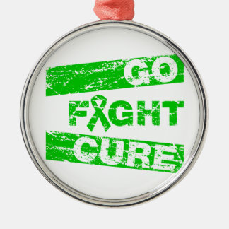 Mental Health Disease Go Fight Cure Ornaments