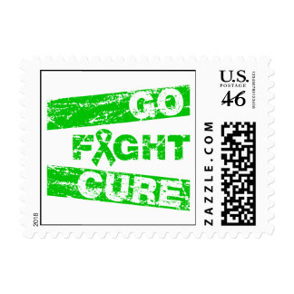 Mental Health Disease Go Fight Cure Postage Stamps