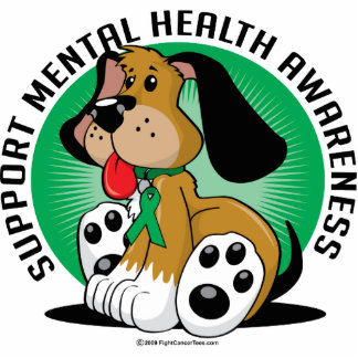 Mental Health Dog Cutout