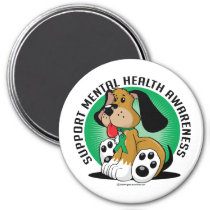 Mental Health Dog Magnet