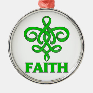 Mental Health Faith Fleur de Lis Ribbon Christmas Tree Ornaments