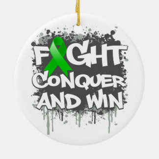 Mental Health  Fight Conquer and Win Christmas Tree Ornaments