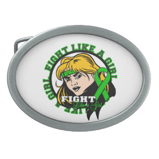 Mental Health Fight Like A Girl Attitude Oval Belt Buckles