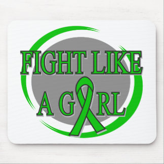 Mental Health Fight Like A Girl Circular Mouse Pad