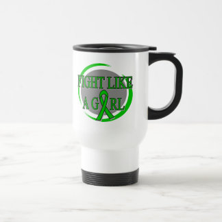 Mental Health Fight Like A Girl Circular Coffee Mug