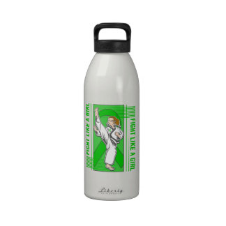 Mental Health Fight Like A Girl Kick Reusable Water Bottles