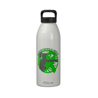 Mental Health Fight Like A Girl Pose Reusable Water Bottles