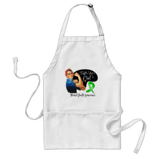 Mental Health Fight Like a Girl Rosie The Riveter Apron