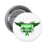 Mental Health Fight Like a Girl Wings Button