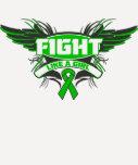 Mental Health Fight Like a Girl Wings Tee Shirts