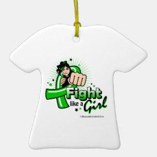 Mental Health Fist - Fight Like a Girl Ornament