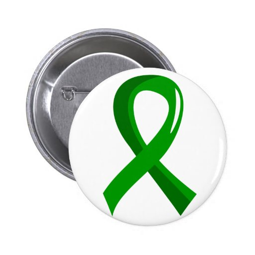 Mental Health Green Ribbon 3 2 Inch Round Button