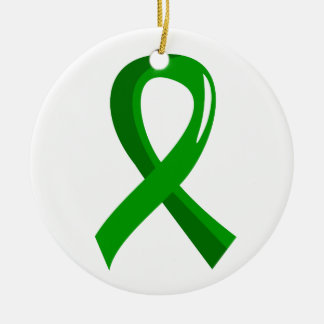 Mental Health Green Ribbon 3 Christmas Ornament