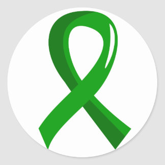 Mental Health Green Ribbon 3 Classic Round Sticker