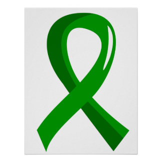 Mental Health Green Ribbon 3 Poster