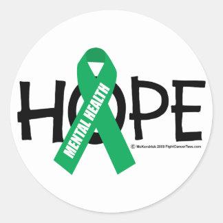 Mental Health Hope Classic Round Sticker