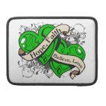 Mental Health Hope Faith Dual Hearts Sleeve For MacBooks