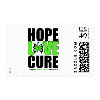 Mental Health - Hope Love Cure Postage Stamps