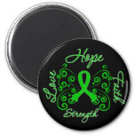 Mental Health Hope Motto Butterfly 2 Inch Round Magnet