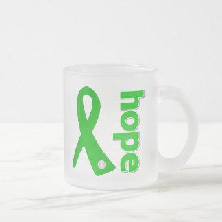 Mental Health Hope Ribbon 10 Oz Frosted Glass Coffee Mug