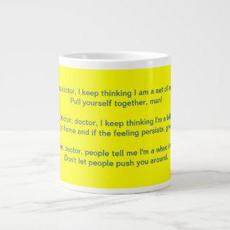 Mental Health Humor Mug 20 Oz Large Ceramic Coffee Mug