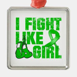 Mental Health I Fight Like A Girl (Grunge) Christmas Tree Ornament