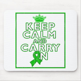 Mental Health Keep Calm and Carry ON Mouse Pad