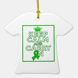 Mental Health Keep Calm and Carry ON Christmas Ornaments