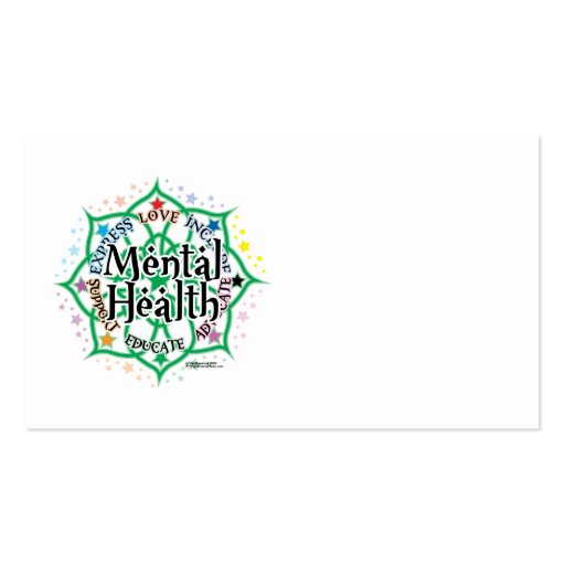 Mental Health Lotus Double-Sided Standard Business Cards (Pack Of 100)