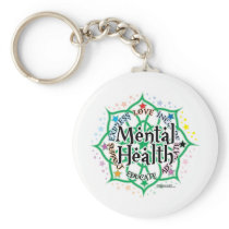 Mental Health Lotus Keychain