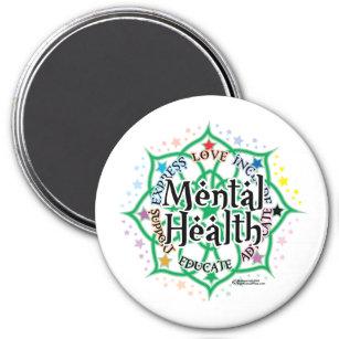 Mental Health Lotus Magnet
