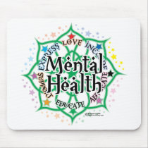 Mental Health Lotus Mouse Pad