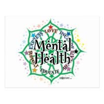 Mental Health Lotus Postcard