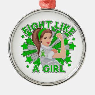 Mental Health Modern Rosie Fight Like a Girl Christmas Ornaments
