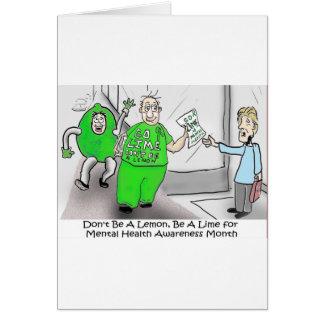 Mental health Month Go Lime Card