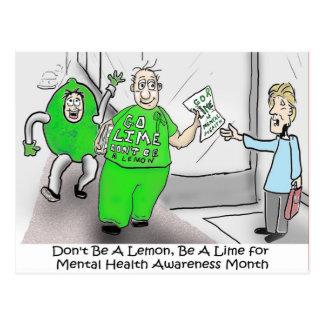 Mental health Month Go Lime Postcard